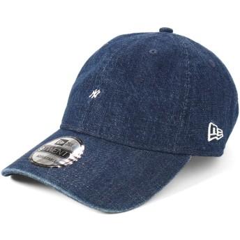 (ニューエラ) NEW ERA キャップ サイズ調整 9TWENTY MICRO LOGO MLB ニューヨークヤンキース ウォッシュドデニム ウォッシュ加工 FREE