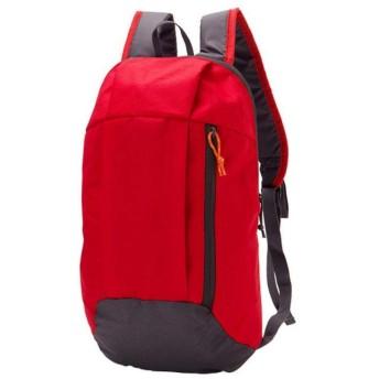 スポーツバックパック女性男性10L防水ナップザック大容量旅行スポーツ軽量登山戦術的な屋外バックパック-赤