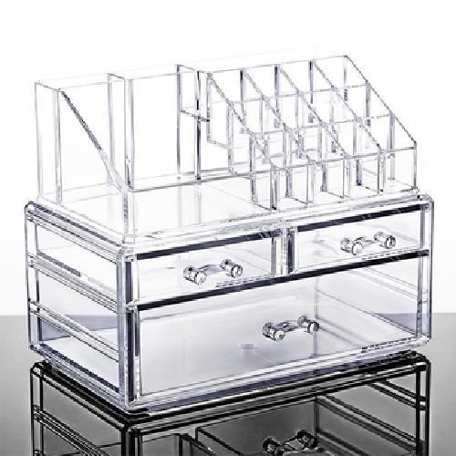 壓克力 化妝品收納盒 透明 置物盒[大買家]