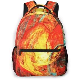 リュック 燃えるような太陽の絵, バックパック リュックサック ビジネスリュック メンズ レディース カジュアル 男女兼用 軽量 通勤 通学 旅行 鞄 バッグ カバン