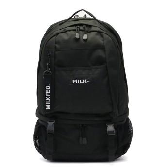 (MILKFED./ミルクフェド)ミルクフェド リュック MILKFED. NEO BIG BACKPACK BAR バックパック デイパック 03182085/レディース ブラック