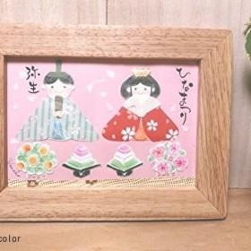 ひなまつり*水彩イラスト木製フレーム