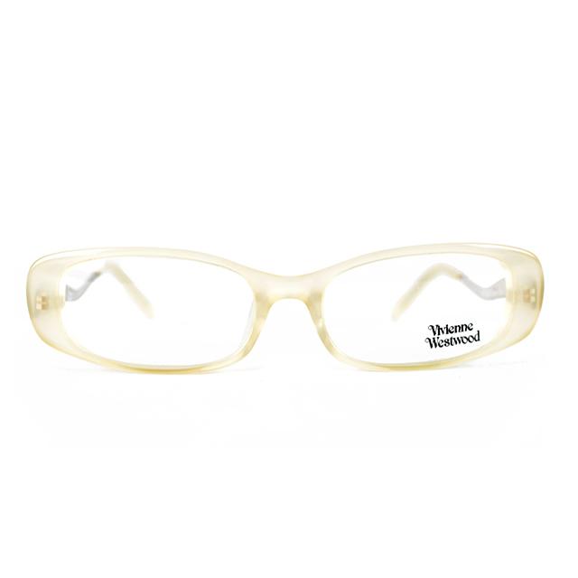 【Vivienne Westwood】英國薇薇安魏斯伍德星球曲線鏡腳光學眼鏡(米黃) VW096-02