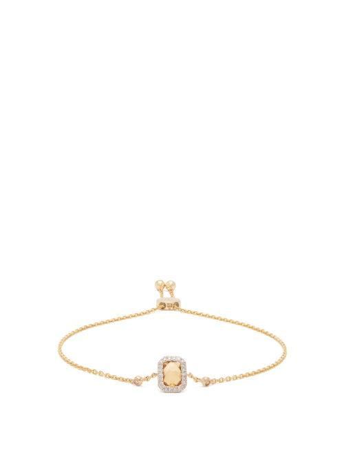 Anissa Kermiche - November Citrine, Diamond & 14kt Gold Bracelet - Womens - Yellow