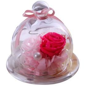 プリザーブドフラワー ドライフラワー バラ バレンタインデー母の日クリスマス記念感謝祭の女の子のための手作りの永遠のバラプリザーブドフラワーローズ、フォーエバーフラワーギフト 母の日、記念日プレゼント、結婚式、バレンタイン、彼女への最高の贈り物 (Color : Pink, Size : 9x10cm)