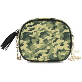 KAPANOU レディース チェーンバッグ,淡いトーンの色のしぶきと服のモチーフ抽象的なパターン図,ミニファッションかわいいデザインショルダーバッグパーソナライズされたカスタムの異なるスタイルの色