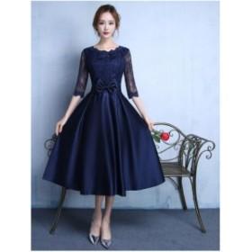 新品 パーティドレス 結婚式 ドレス 花嫁 お呼ばれドレス 披露宴 二次会 ドレス 大きいサイズ ウェディング イブニングドレス ミディアム