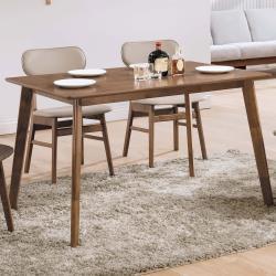 Homelike 坎凱4尺胡桃餐桌-120x75x75cm