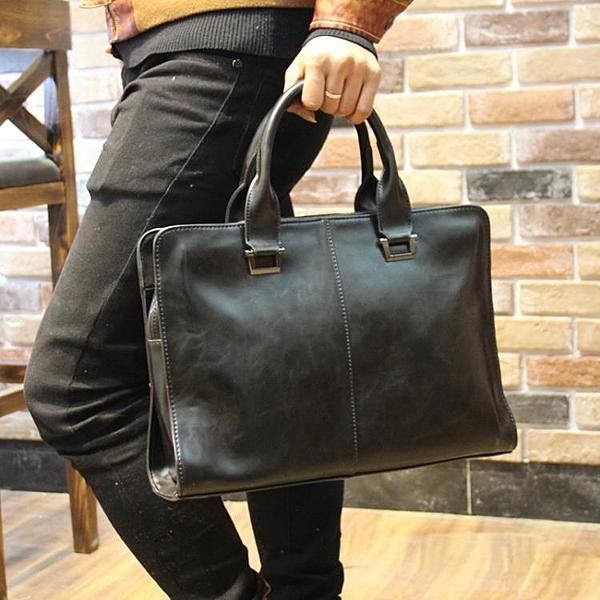男包商務包公文包男士手提包休閒皮包電腦工作包單肩斜跨韓版背包 喵小姐