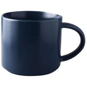 デミタスカップ シンプルなカップ北欧セラミックマグ大容量クリエイティブホームのコーヒーカップとスタンド (Color : Dark Blue, Size : S)