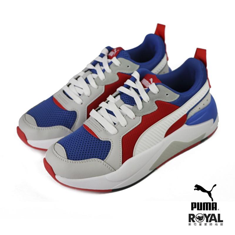 Puma X-Ray 藍紅色 網布 運動休閒鞋 男女款 NO.B1182【新竹皇家 37260204】