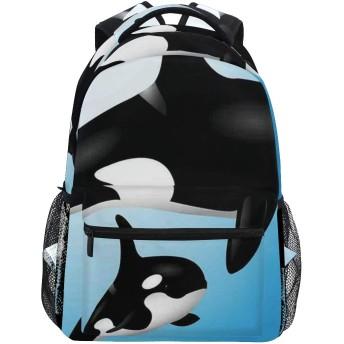 NR 新しい軽量おしゃれ学校バックパックオルカファミリー母親と赤ちゃん水泳海洋子供親のテーマ旅行ハイキングキャンプバッグ多機能 遠足 おしゃれ