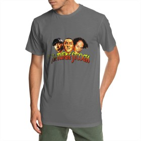 TheThree StoogesTシャツ メンズ 半袖 トップス 吸汗 通気 Uネック カジュアル 青少年 通学 通勤 アウトドア ファッション