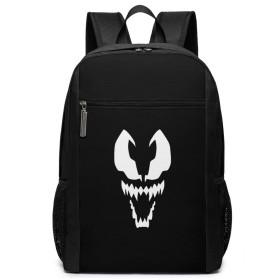 スパイダーマンのヴェノム プラチナ スタイルSpiderman Venom ユニセックスファッションバックパック17インチ、亜鉛合金ハンギングジッパーヘッド、通勤学生ラップトップスーパーヘビーデューティーバックパック、アウトドアスポーツバックパック