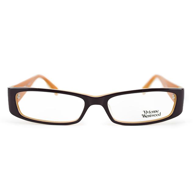 【Vivienne Westwood】英國薇薇安魏斯伍德文學氣質光學眼鏡(橘) VW124-02