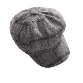 女性 ベレットハット ウール ベレー 秋冬 帽子 レディース ハット (Color : Gray, Size : M)