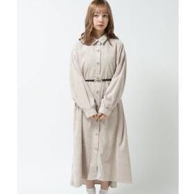 【レイカズン/RAY CASSIN】 袖ボリュームライスコールシャツワンピース