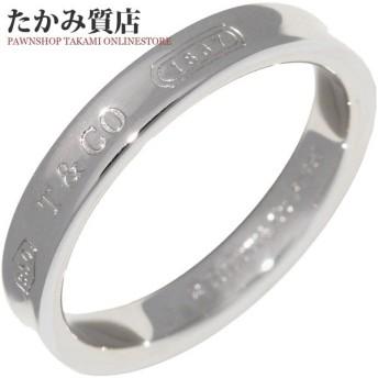 ティファニー 指輪 リング Pt950 1837ナローリング 幅3ミリ 8号