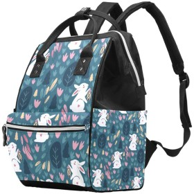 AyuStyle リュックサック リュック マザーズバッグ かわいい ウサギ おしゃれ かっこいい メンズ レディース 男女兼用 大容量 学生 旅行 通学 遠足 お出かけ バックパック