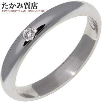 カルティエ 指輪 リング Pt950 ダイヤ1P 0.01ct クラシックウェディングリング 1895ウェディングリング 幅2.6ミリ B40577 #44 4号