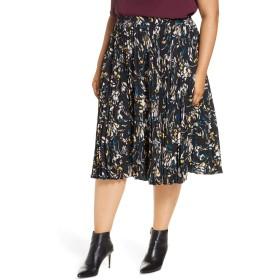 [ハロゲン] レディース スカート Halogen Pleated Skirt (Plus Size) [並行輸入品]