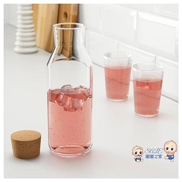密封附軟木塞玻璃瓶果汁瓶咖啡豆泡酒瓶熱水瓶罐酵素瓶子