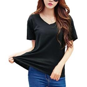 Heaven Days(ヘブンデイズ) Tシャツ 半袖 カットソー ブラウス Vネック シンプル コットン レディース 1807M0592