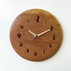壁掛け時計 壁掛時計  掛け時計 一枚板 おしゃれ 桜 さくら 桜無垢 木製  天然木 掛け時計 時計  ギフト