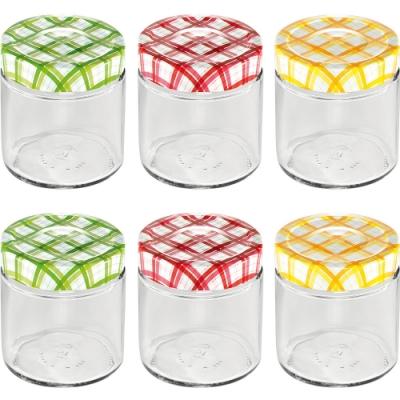 《TESCOMA》格紋玻璃密封罐6入(200ml)