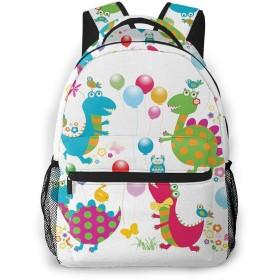 リュック 恐竜パーティー12, バックパック リュックサック ビジネスリュック メンズ レディース カジュアル 男女兼用 軽量 通勤 通学 旅行 鞄 バッグ カバン