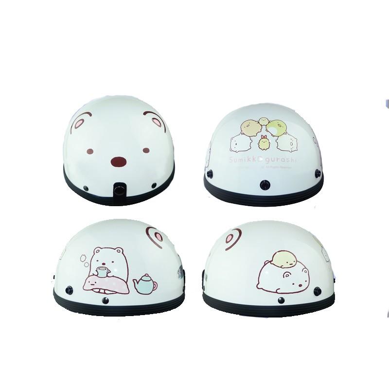 華泰 角落小夥伴 碗公帽 1/2 半頂式安全帽 瓜皮帽 角落生物 白熊