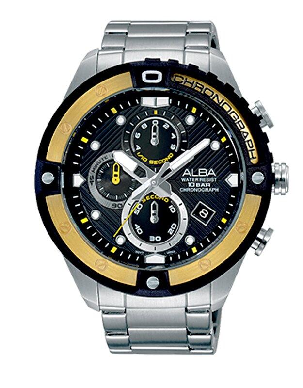 ALBA 劉以豪代言ACTIVE競速型男計時潮流腕錶VD57-X071Y/AM3324X1公司貨