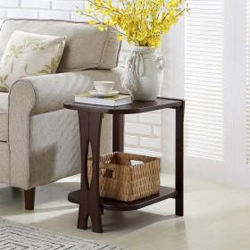 アメリカのシンプルでモダンなサイドテーブルソファ小さなコーヒーテーブルリビングルームテーブル北欧木製コーナーサイドキャビネット W1/8 (Color : B)