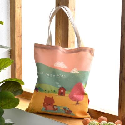 義大利Fancy Belle X Mandie Kuo 稻浪中的午後 帆布購物袋