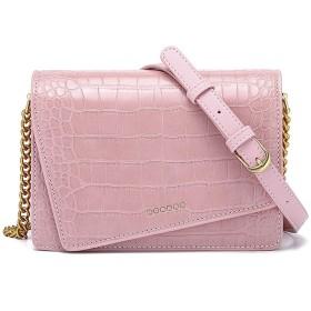ミニ ショルダーバッグ チェーンバッグ 革 カバン レディース 携帯バッグ 斜め掛け 肩掛け (ピンク)