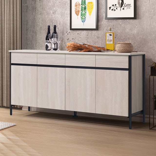 YoStyle 費羅尼5.3尺餐櫃 碗盤收納櫃 下櫃 櫥櫃 收納櫃 置物櫃 專人配送安裝