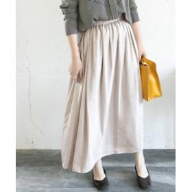 【URBAN RESEARCH:スカート】SILVERLIGHTS サテン起毛ギャザーマキシスカート