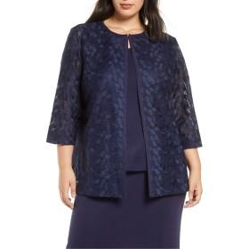 [ミンウォン] レディース ジャケット・ブルゾン Ming Wang Lace & Knit Jacket (Plus Size) [並行輸入品]