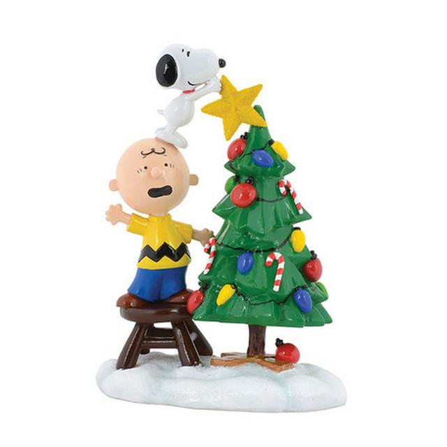 史努比聖誕樹塑像