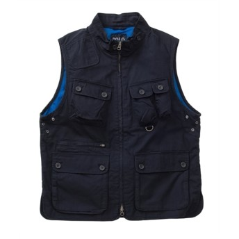 【ポケットがたくさんあって便利!】POLO B.C.S(ポロビシーエス)裏メッシュアクションプリーツ付ベスト ベスト, Vest