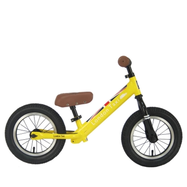 英國 London Taxi KickBike - 專業充氣胎幼兒平衡滑步車-黃