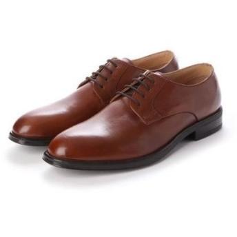 ジョーマリノ JO MARINO メンズ ビジネスシューズ 牛革100% 紳士靴 プレーントウ ドレスシューズ 防滑 (ブラウン)