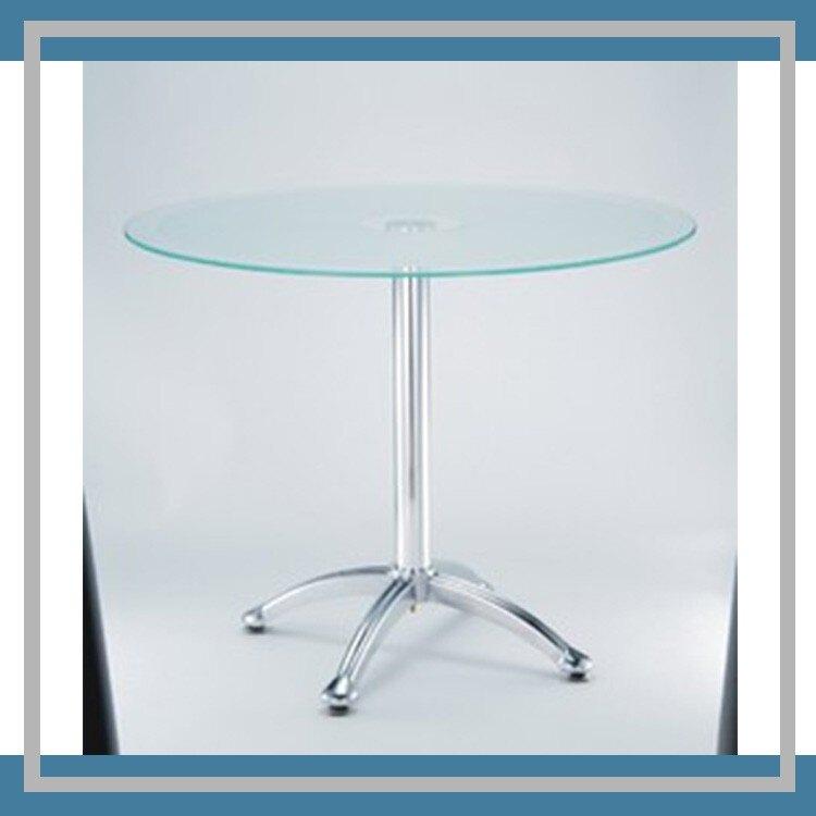 【勁媽媽-潔保】辦公桌  ML-801 玻璃洽談桌 桌子 休息室 圓桌