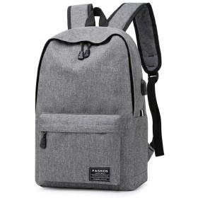 ノートパソコン用のバッグ オックスフォード中学生ショルダーバッグスクールメンズコンピュータバッグ大容量バックパック (色 : グレー)