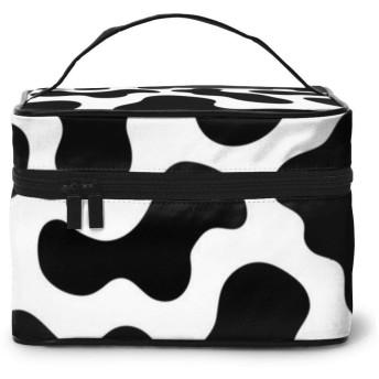 バニティケース コスメケース ジュエリーケース メイクボックス 化粧ケース 収納ケース 小物入れ コスメボックス 牛柄 おもしろい プリント柄