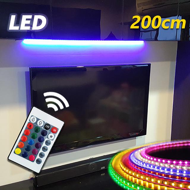 USB七彩無線搖控LED燈條-200cm