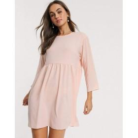 エイソス ミニドレス レディース ASOS DESIGN long sleeve smock mini dress [並行輸入品]