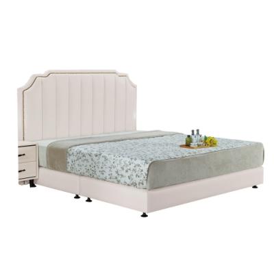 文創集 法蕾吉6尺床台(二色+床頭片+床底+無床墊)-184x199x127cm免組