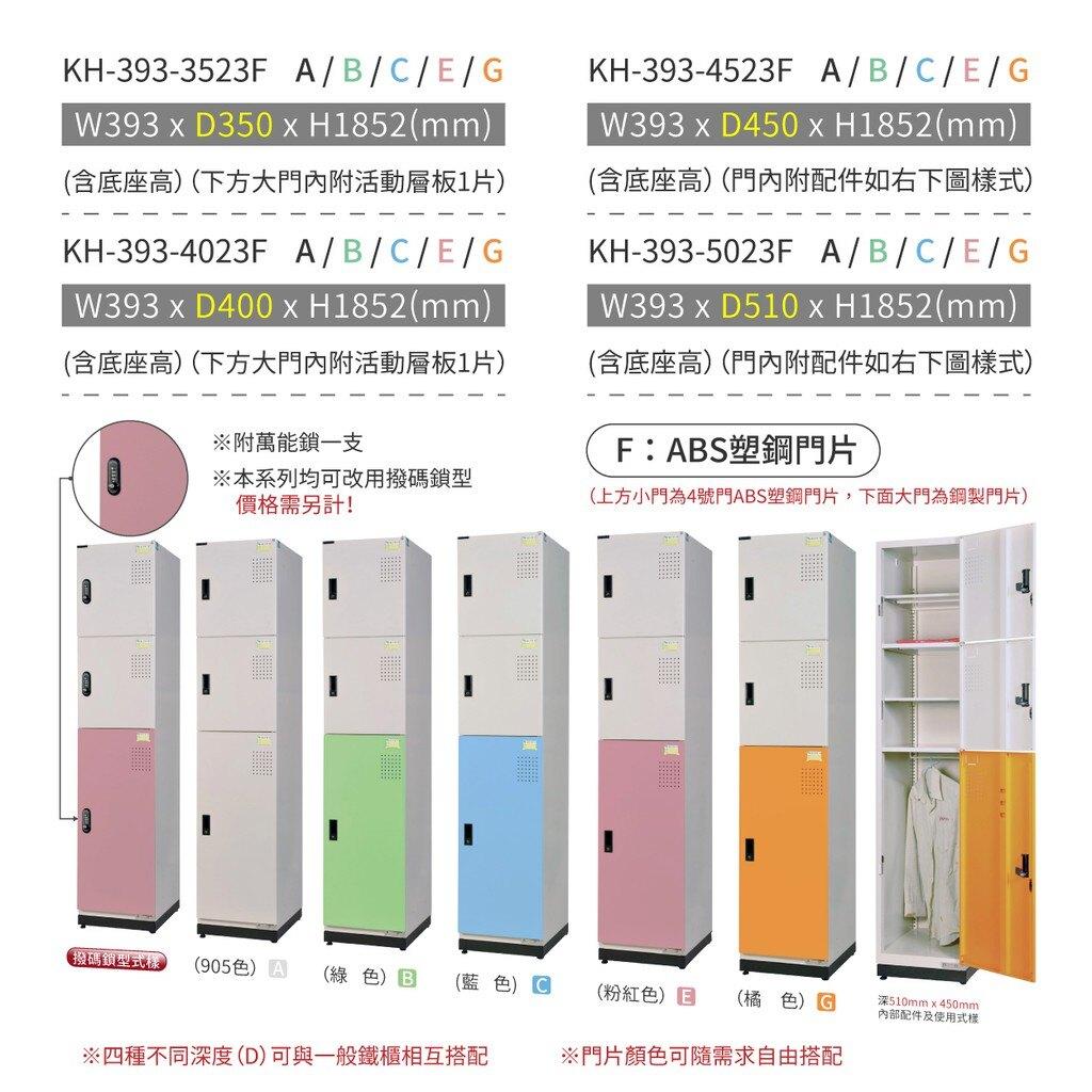 大富 D5(2小1大門)KH-393-5023F (粉/綠/藍/橘/905色)多用途收納鑰匙鎖櫃 收納櫃(可改撥碼鎖)