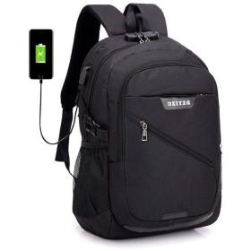 安全盗難防止スクールバッグ、ポートインテリジェントラップトップバッグ、複数のコンパートメント多機能ユニセックスリュックサックデイパックを充電する外付けUSB (Color : Black)